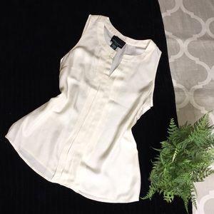Cynthia Rowley silk sleeveless blouse.